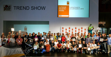 Zwycięzcy OutDoor INDUSTRY AWARD 2014 (fot. Messe Friedrichshafen)