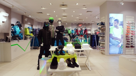 Wnętrze jednego z nowych sklepów marki 4F