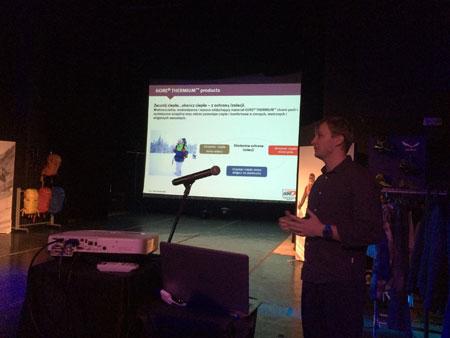 Kuba Dyrlico opowiada o nowych technologiach w rodzienie Gore-Tex (fot. arch. SALEWA)