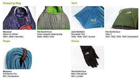 Greenpeace, testowane śpiwory, namioty, lina oraz rękawice