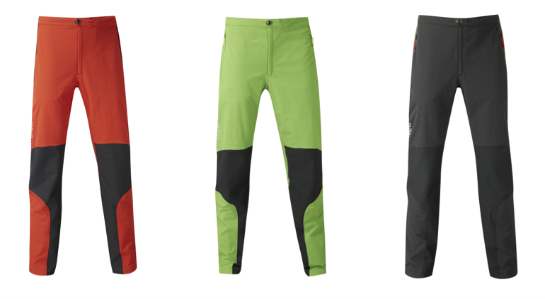 Softshellowe spodnie marki Rab na jesień i zimę