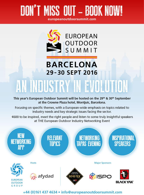 European Outdoor Summit 2016 w Barcelonie już za niecały miesiąc