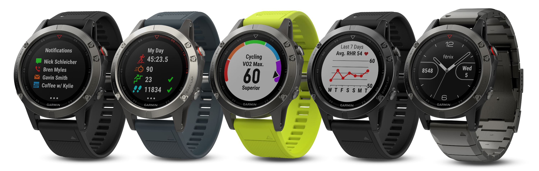 Garmin® fēnix® 5 – multisportowe zegarki GPS  dla sportowców i poszukiwaczy przygód