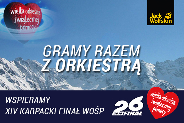Jack Wolfskin Polska po raz 8. wspiera Wielką Orkiestrę Świątecznej Pomocy