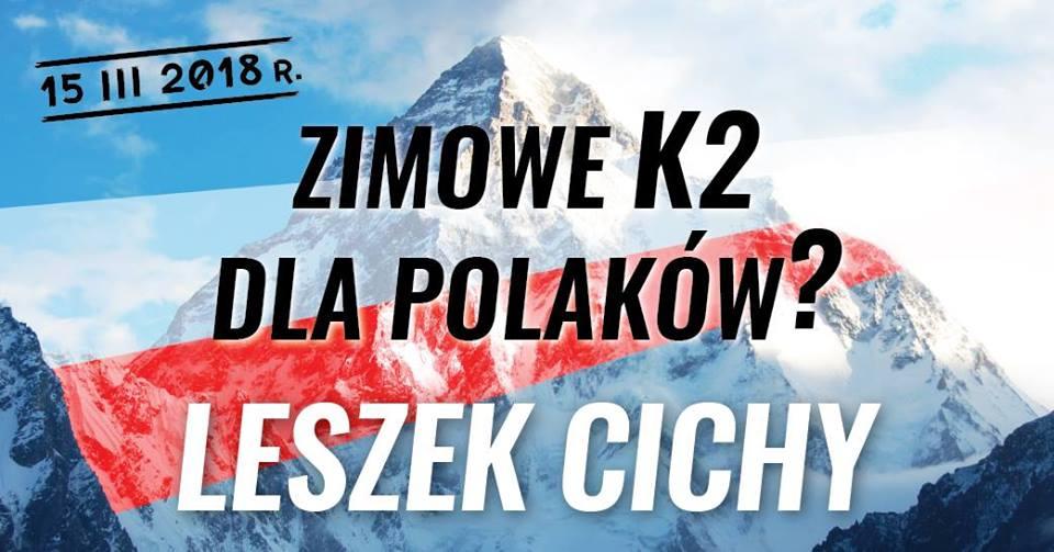 Leszek Cichy – Zimowe K2 dla Polaków? Spotkanie w Warszawie