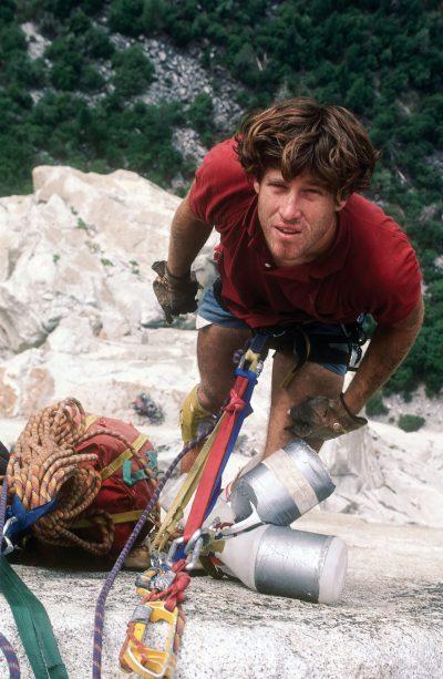 Charles Cole na El Capitan, lata 80.